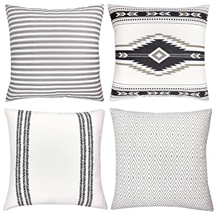 Woven Nook Decorative Throw Pillow COVERS ONLY For Couch, Sofa, Or Bed Set  Of