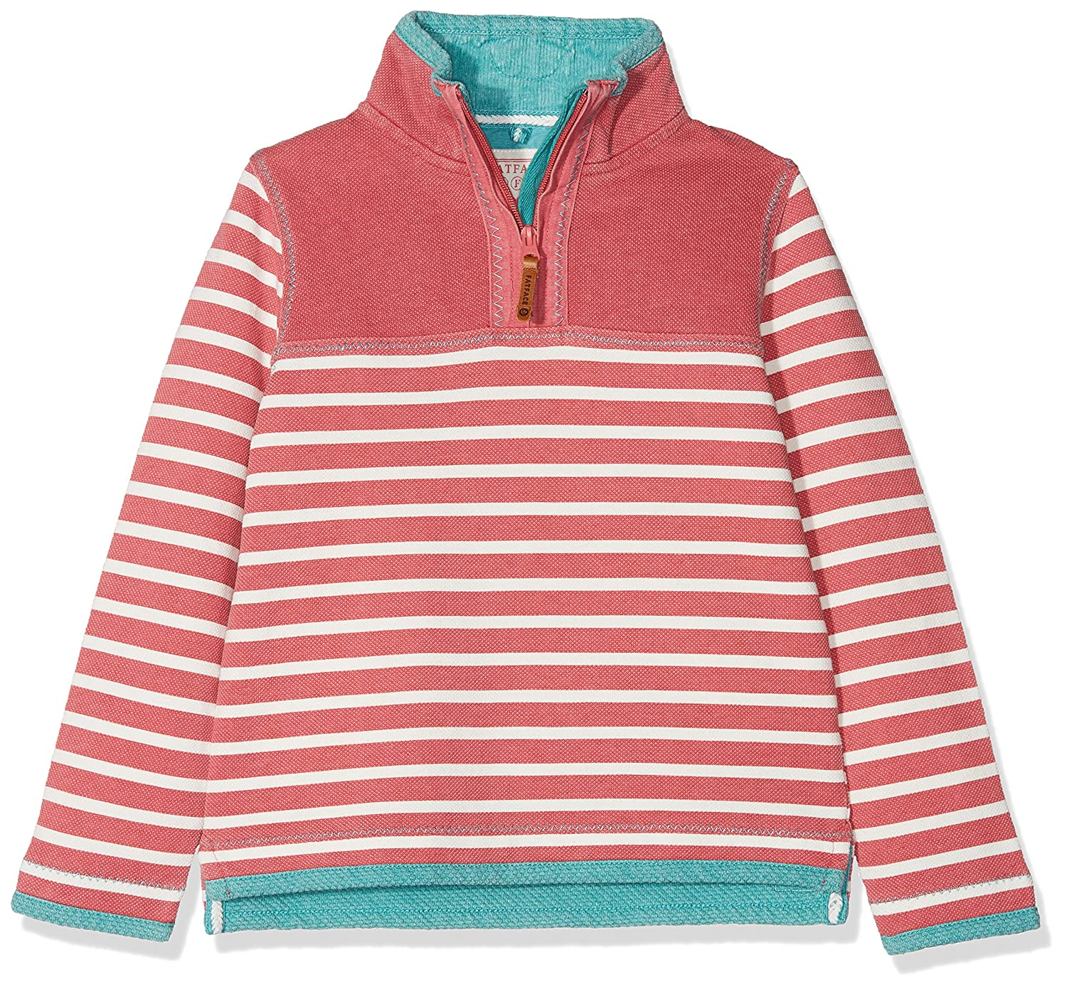 Rouge (Rosehip) 6-7 ans Fat Face Airlie Stripe, Sweat-Shirt Fille