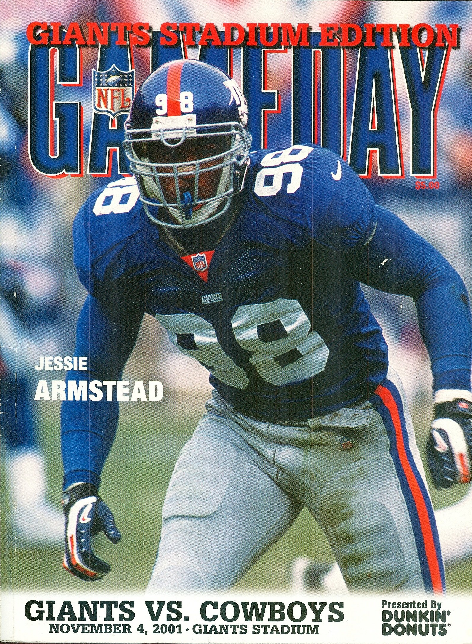 a3903cea New York Giants Gameday Magazine: The Official Game Program: Ginats ...