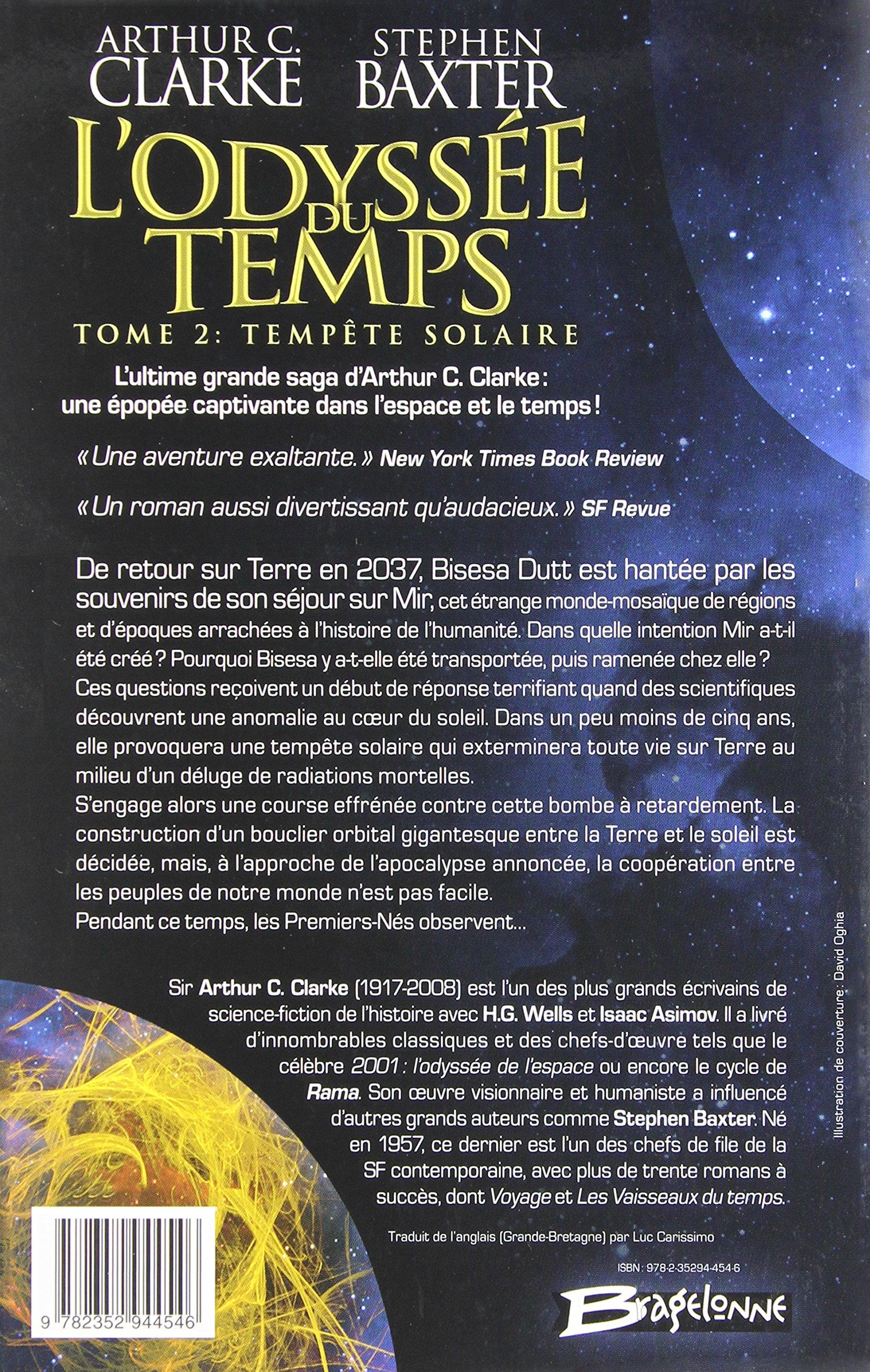 lodyssee du temps tome 2 tempete solaire