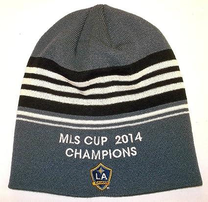 5095ea6e9f4 Amazon.com   LA Galaxy MLS Cup 2014 Champions Adidas Knit Hat - Osfa ...