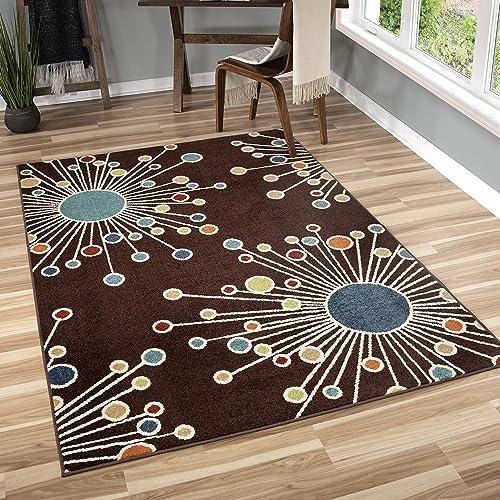Orian Rugs 2319 Veranda Indoor/Outdoor Retro Fit Area Rug 7'8″ x 10'10″ Brown