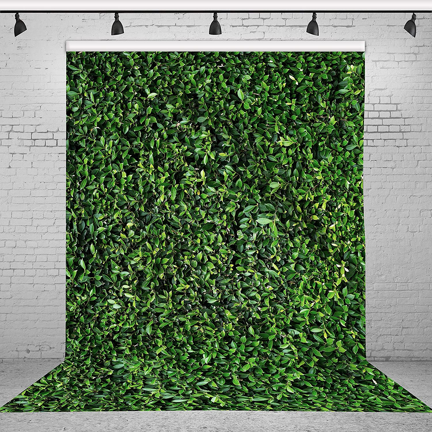 Riyidecor Spring Lawn Backdrop Leaves Grass 5Wx7H Feet Green Natural Outside Birthday Banner Photography Background Baby Artistic Newborn Birthday Party Photo Studio Shoot Backdrop Vinyl