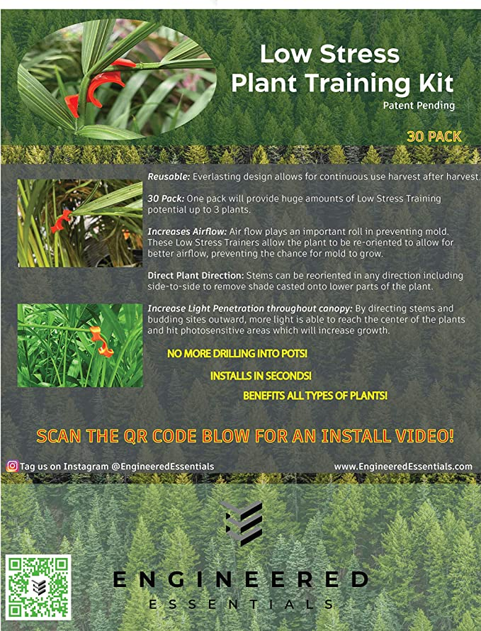 and Plant Training,Plant Trellis Scrog net Plant Bender 10PCS 35PC 90 Degree Plant Trainer for Low Stress Training,No Stake Trellis