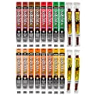 Western's Smokehouse Assorted Meat Stick Pork and Beef Jerky Variety Pack Grab and Go Snacks - Proudly Made in the USA - Assortment of 10 Flavors, Pack of 20
