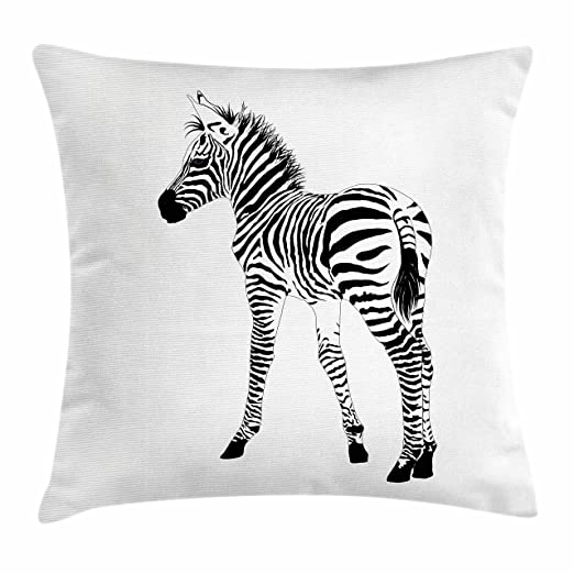 Zebra manta almohada Funda de cojín por lunarable, jóvenes ...
