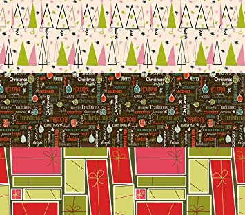 k kraft vintage prints christmas mid century modern christmas wrapping paper on white kraft