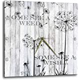 """3dRose 3D Rose Some See a Weed Wish Quotes Saying Phrases Dandelion Wall Clock, 10"""" x 10"""""""