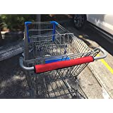Shopping/Grocery Cart Handle Covers | Protective wrap for Buggy Handles | Washable and Reusable | 16 inches Long (2 Pack) (Red)