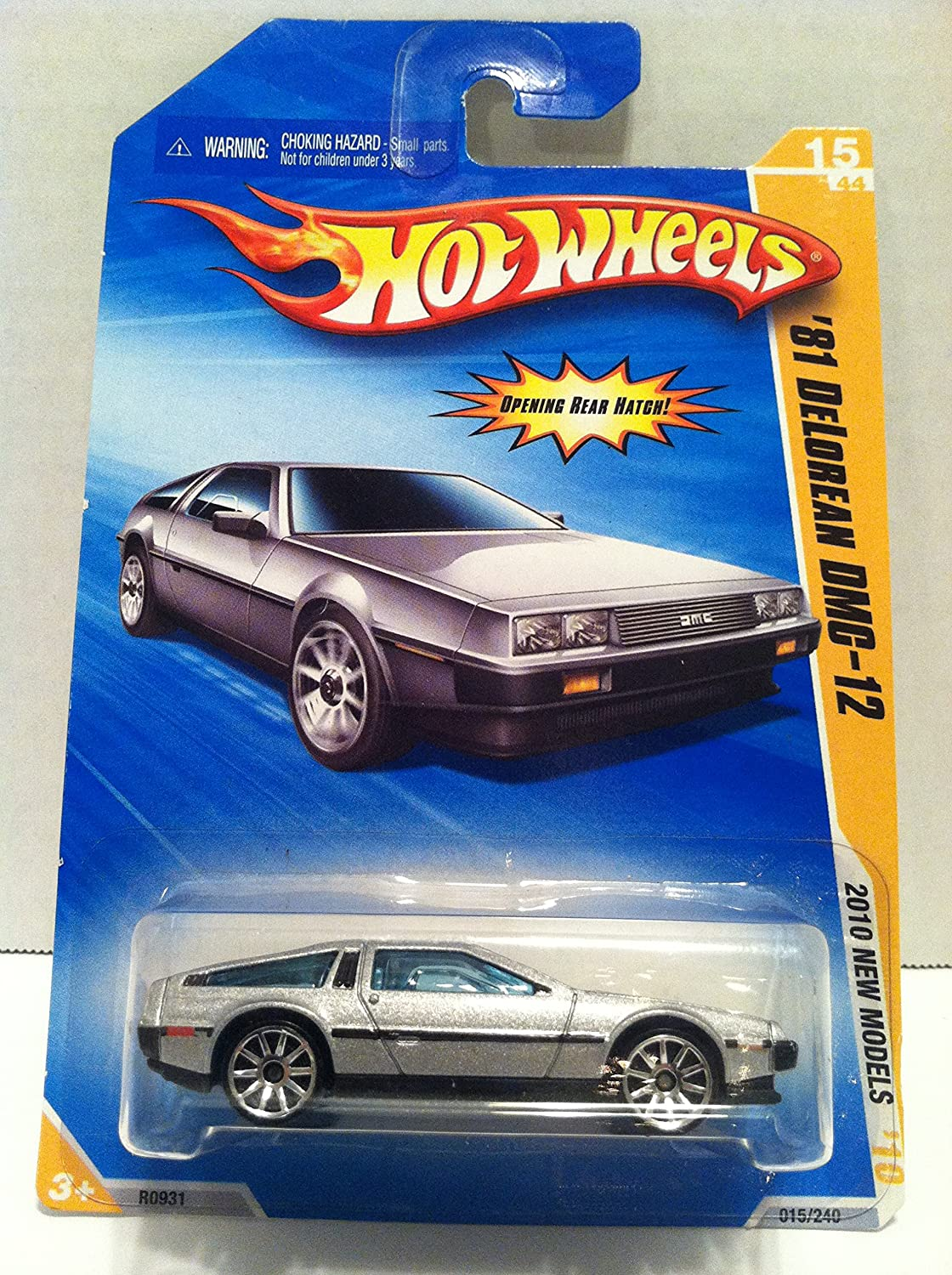 Hot Wheels 2010-015 New Models '81 Delorean Dmc-12 Silver 1:64 Scale Mattel