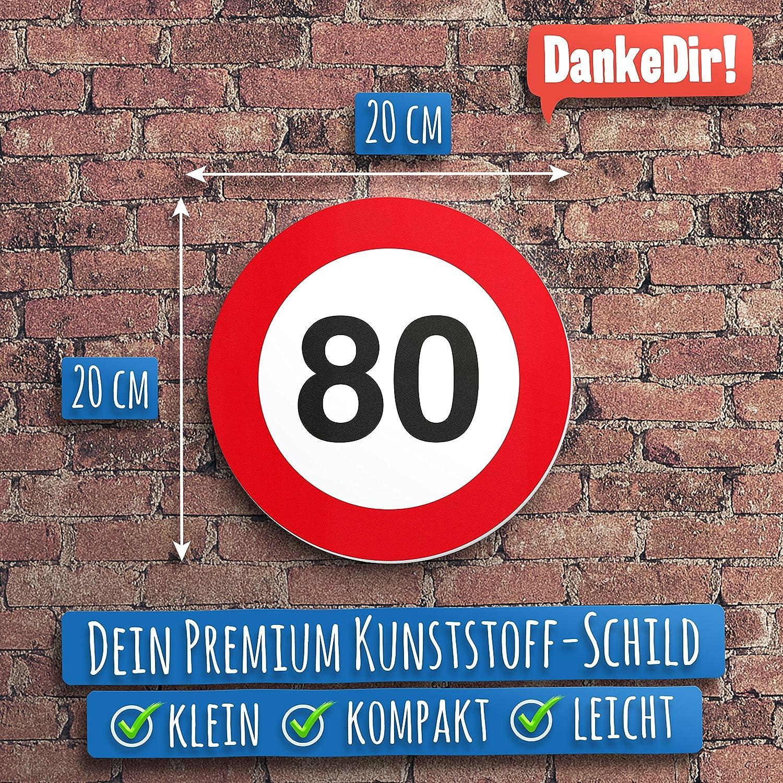 Dankedir 80 Geburtstag Kunststoff Schild 20 X 20 Cm Geschenk