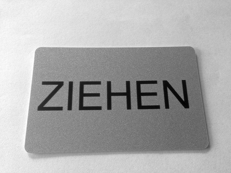 KaiserstuhlCard T/ürschild Tuerschild T/ür Schild Ziehen selbstklebend Aufkleber Haus B/üro Praxis Gesch/äft