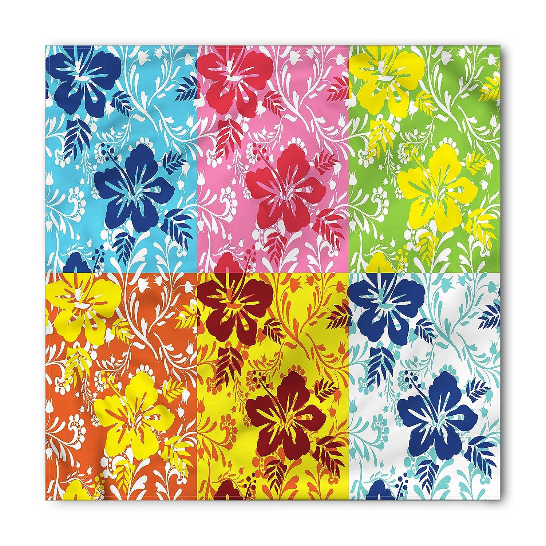 Amazoncom Lunarable Hawaiian Bandana Colorful Hibiscus Flowers