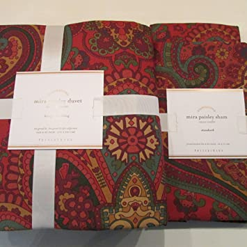 red floral duvet cover queen paisley king sets pottery barn full two standard