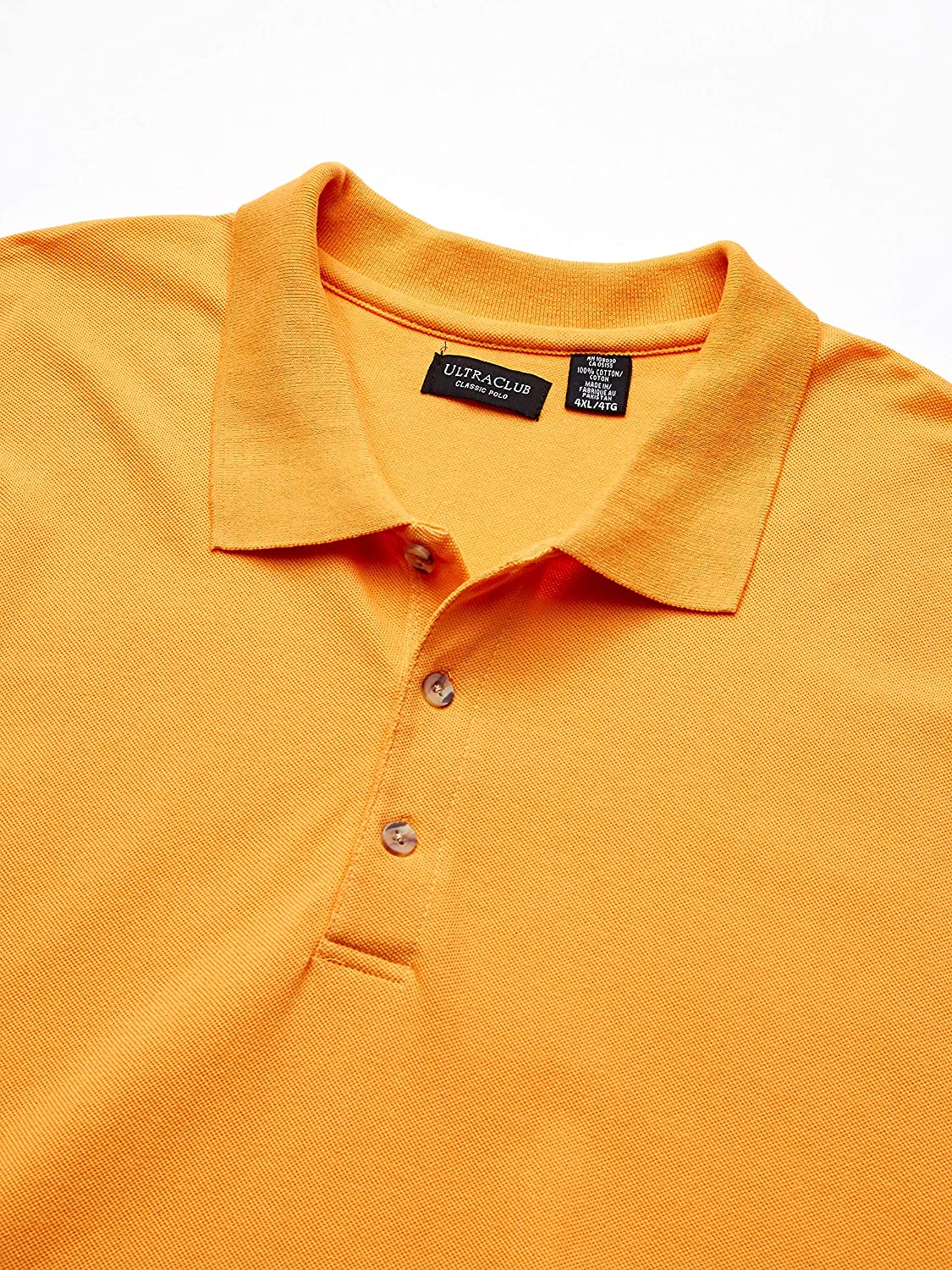 UltraClubs Mens Classic Pique Polo