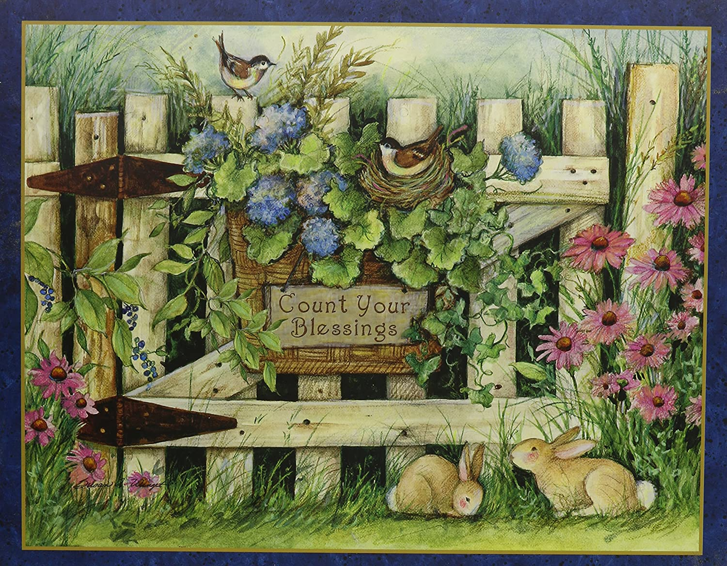 Lang Garden Gate by Susan Winget Jigsaw Puzzle (500-Piece)