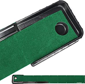 Champkey Guider-LITE Golf Putting Mat - Automatic Ball Return Golf Putting Green - Alignment & Distance Training Mat Gift for Home, Office, Outdoor Use