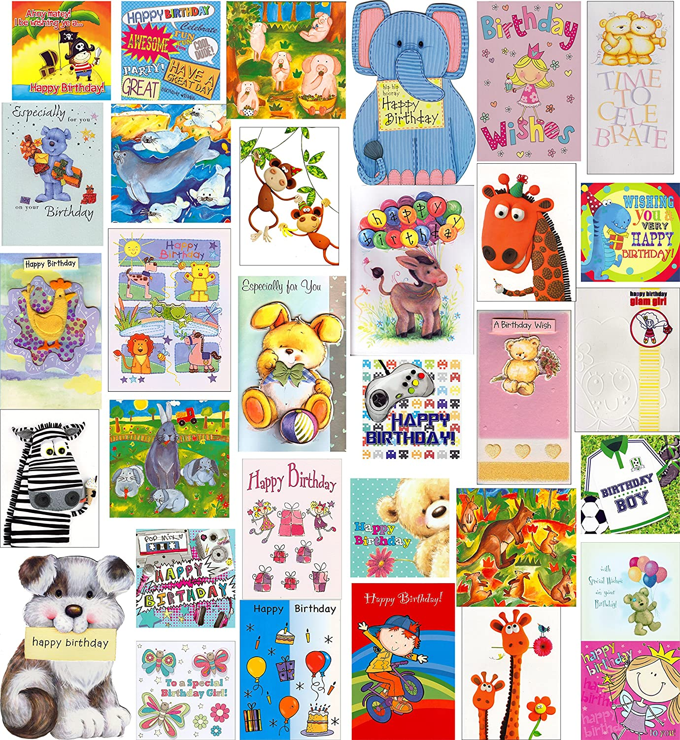 Kids Super Value Mixed Pack 20 Childrens Birthday Greeting Cards