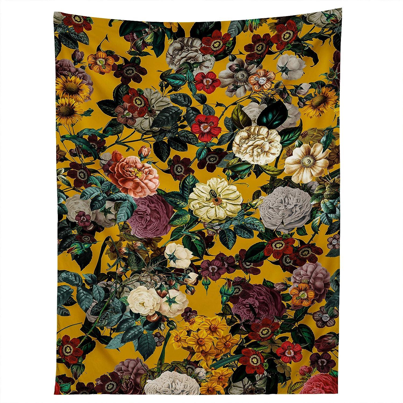 """Society6 Burcu Korkmazyurek Exotic Garden V Tapestry, 50"""" X 60"""", Multi"""