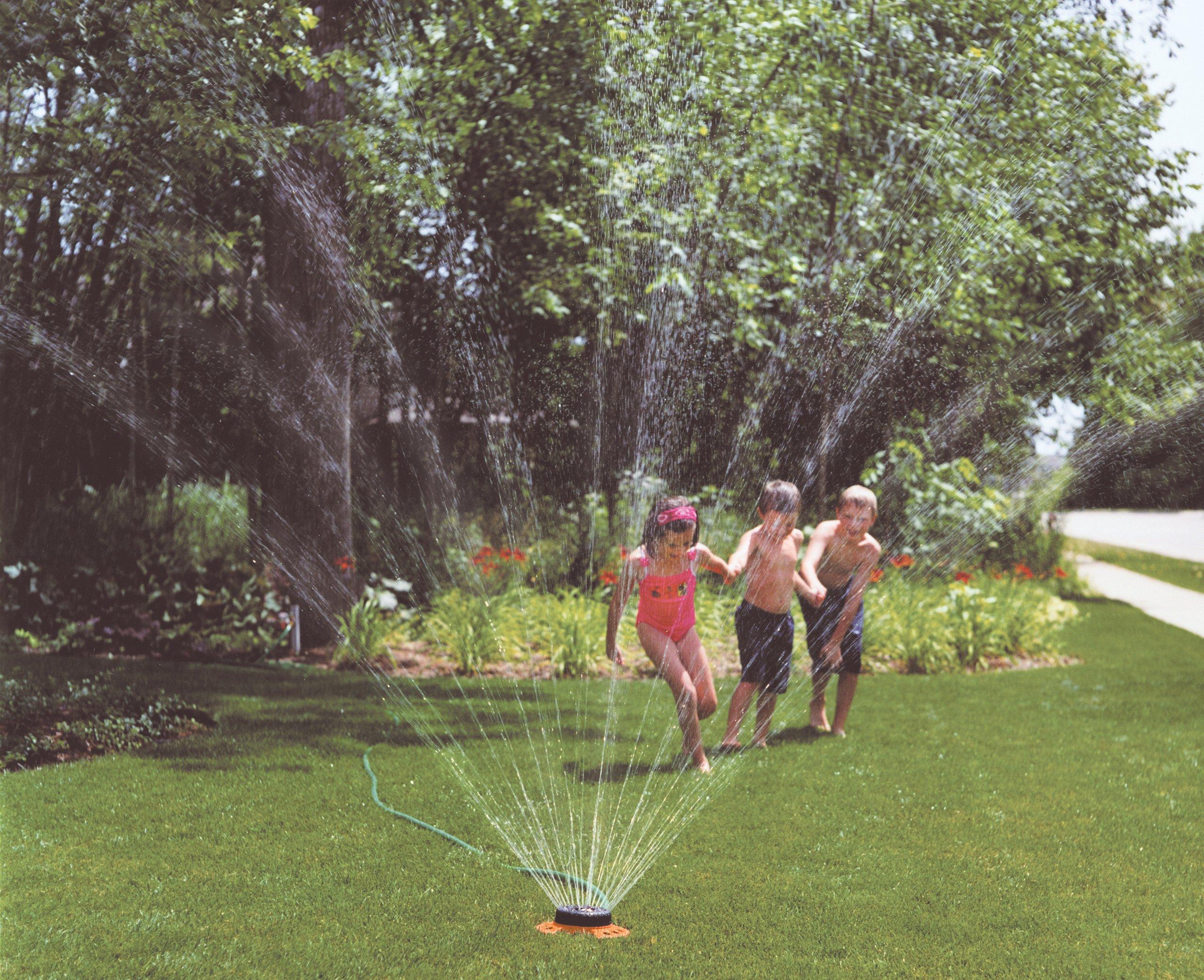 Dramm ColorStorm Turret 9-Pattern Sprinkler, Green