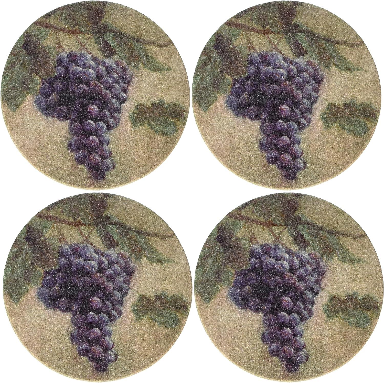 Thirstystone Stoneware Grapes Coaster, Multicolor