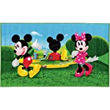 Disney Mickey Mouse Clubhouse Tappeto, Materiale Sintetico,, 80.0 x 140.0 x 1.12 cm
