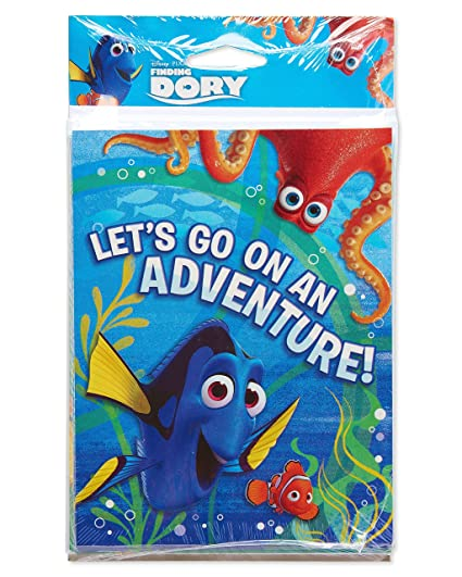 Amazon american greetings finding dory invite and thank you american greetings finding dory invite and thank you combo pack 8 count m4hsunfo
