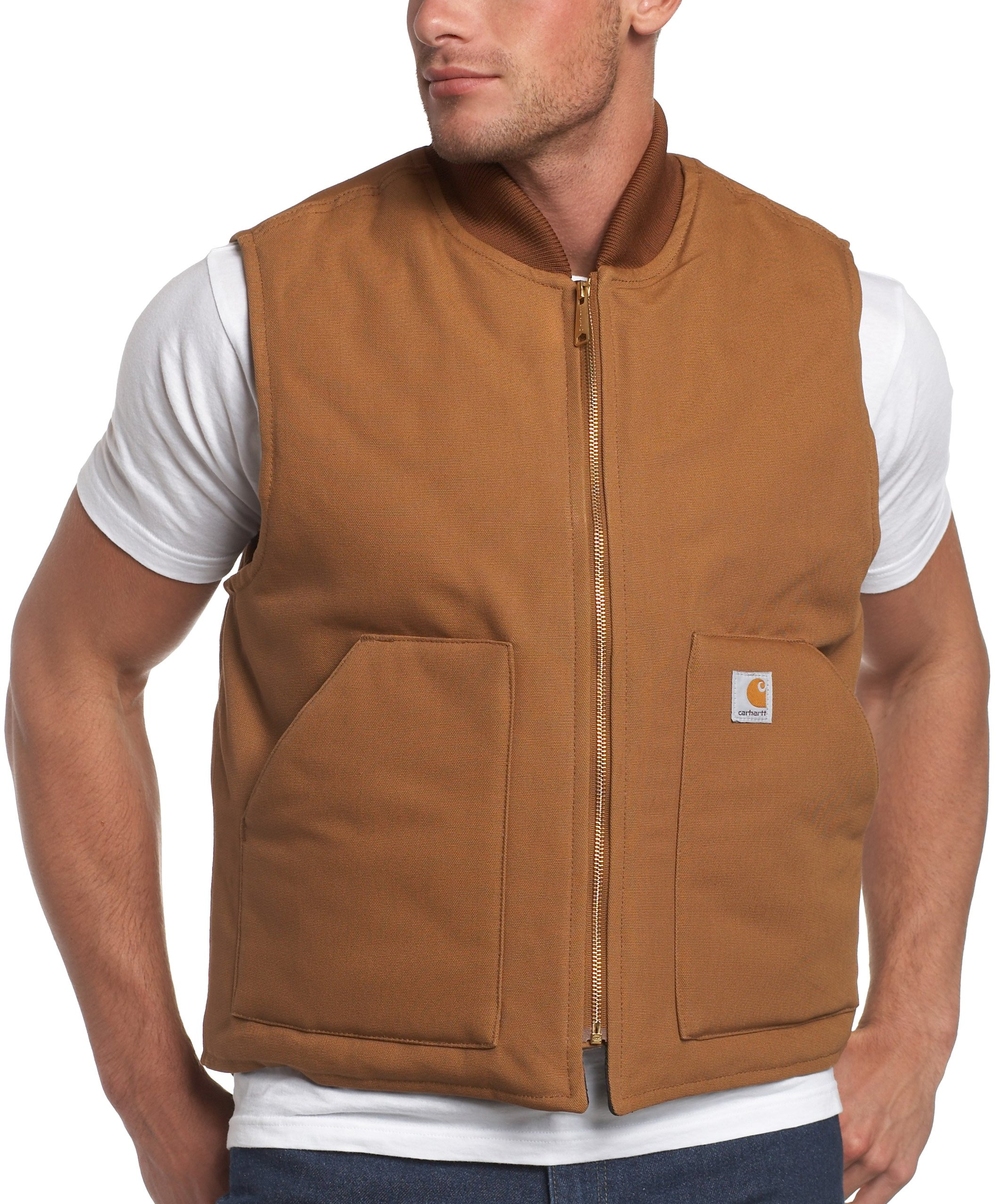 Carhartt Men's Arctic-Quilt Lined Duck Vest (Regular and Big & Tall Sizes), Brown, Small by Carhartt