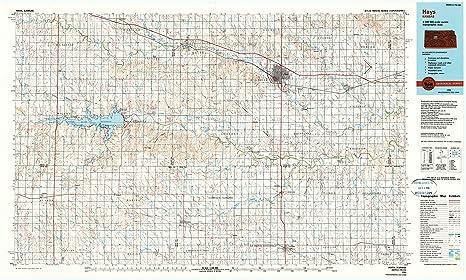 Amazon Com Yellowmaps Hays Ks Topo Map 1 100000 Scale 30 X 60