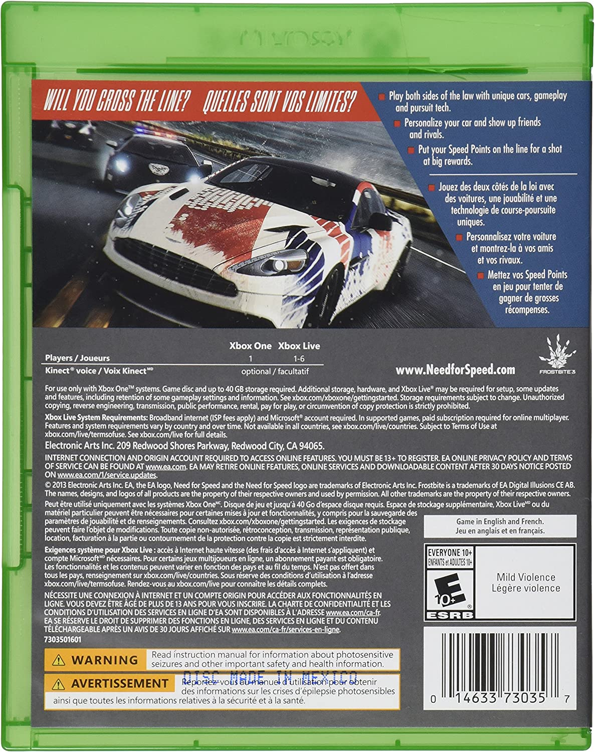 Amazon Com Need For Speed Rivals Xbox One Electronic