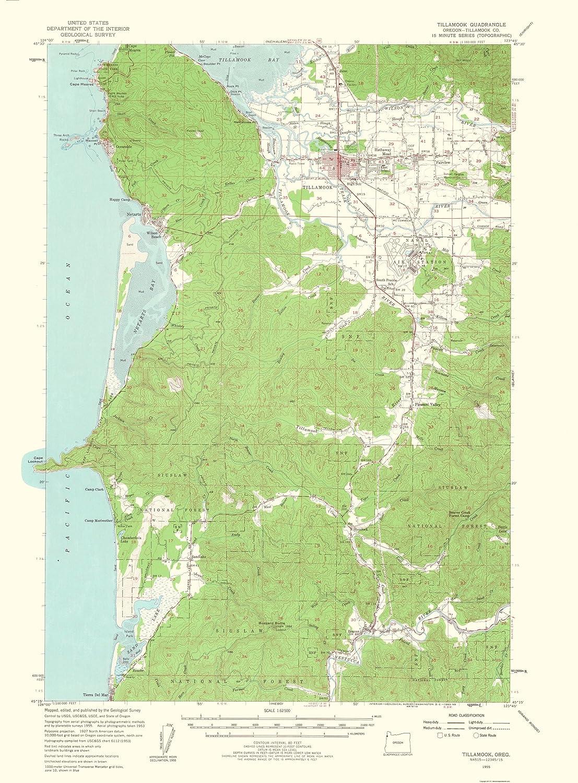 map of tillamook oregon Amazon Com Maps Of The Past Topo Map Tillamook Oregon Quad map of tillamook oregon