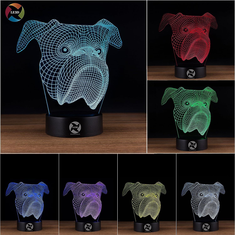Bulldog 3D Night Light