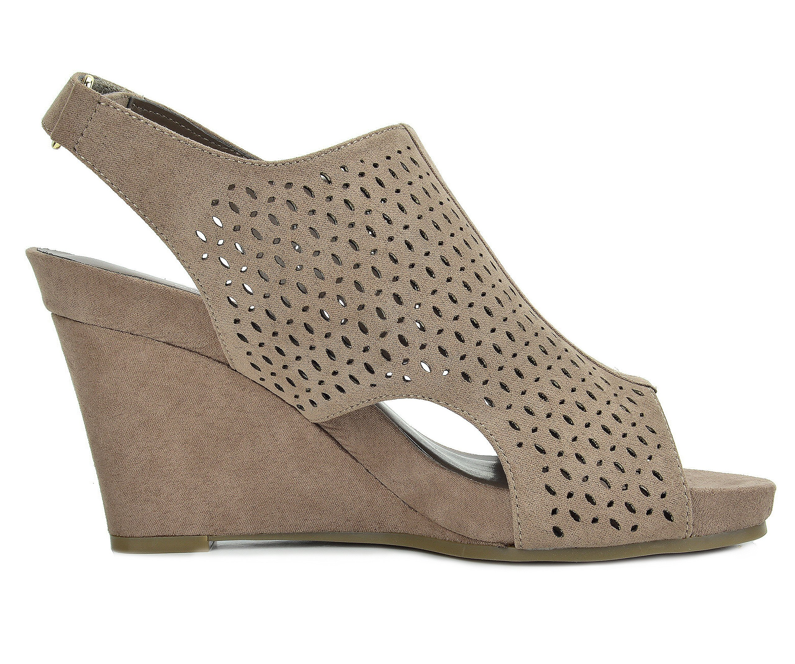 TOETOS Women's Solsoft-6 Taupe Mid Heel Platform Wedges Sandals - 9.5 M US by TOETOS (Image #4)