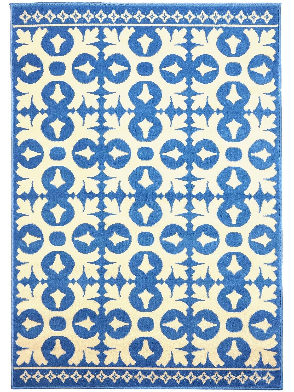 Benuta Vintage Teppich im Used-Look Swing Blau 140x200 cm   Moderner Teppich für Schlafzimmer und Wohnzimmer
