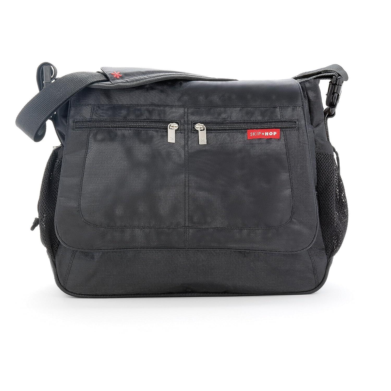 Skip Hop Via Messenger Nappy Changing Bag with Changing Mat Black