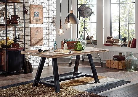 Tavolo da pranzo legno antico 200x100x76 Multicolore laccato ...