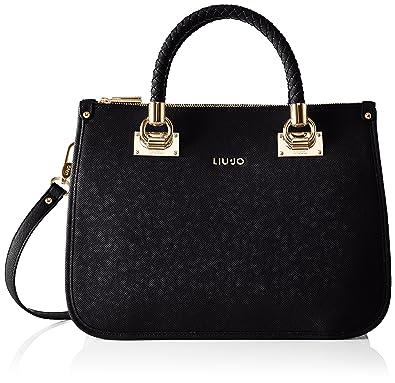 8976e358ee1c8 Liu Jo Womens N66085e0087 Shopping Anna Top-Handle Bag Black  Amazon ...