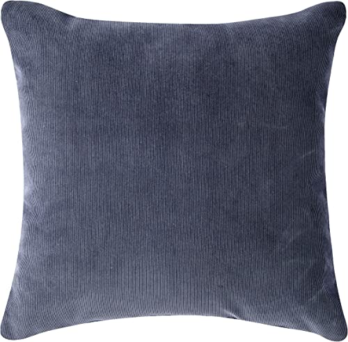 Pillow Pops Atlantic Blue Throw Pillow, Luxury Designer Upholstery Cushion, 18 Inch by 18 Inch, Designed in USA, Blue