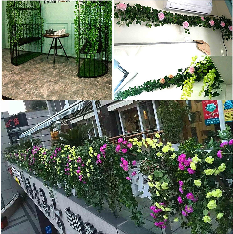 QH-Shop Hojas de Vid,Artificial Guirnalda Plantas de Follaje de ...