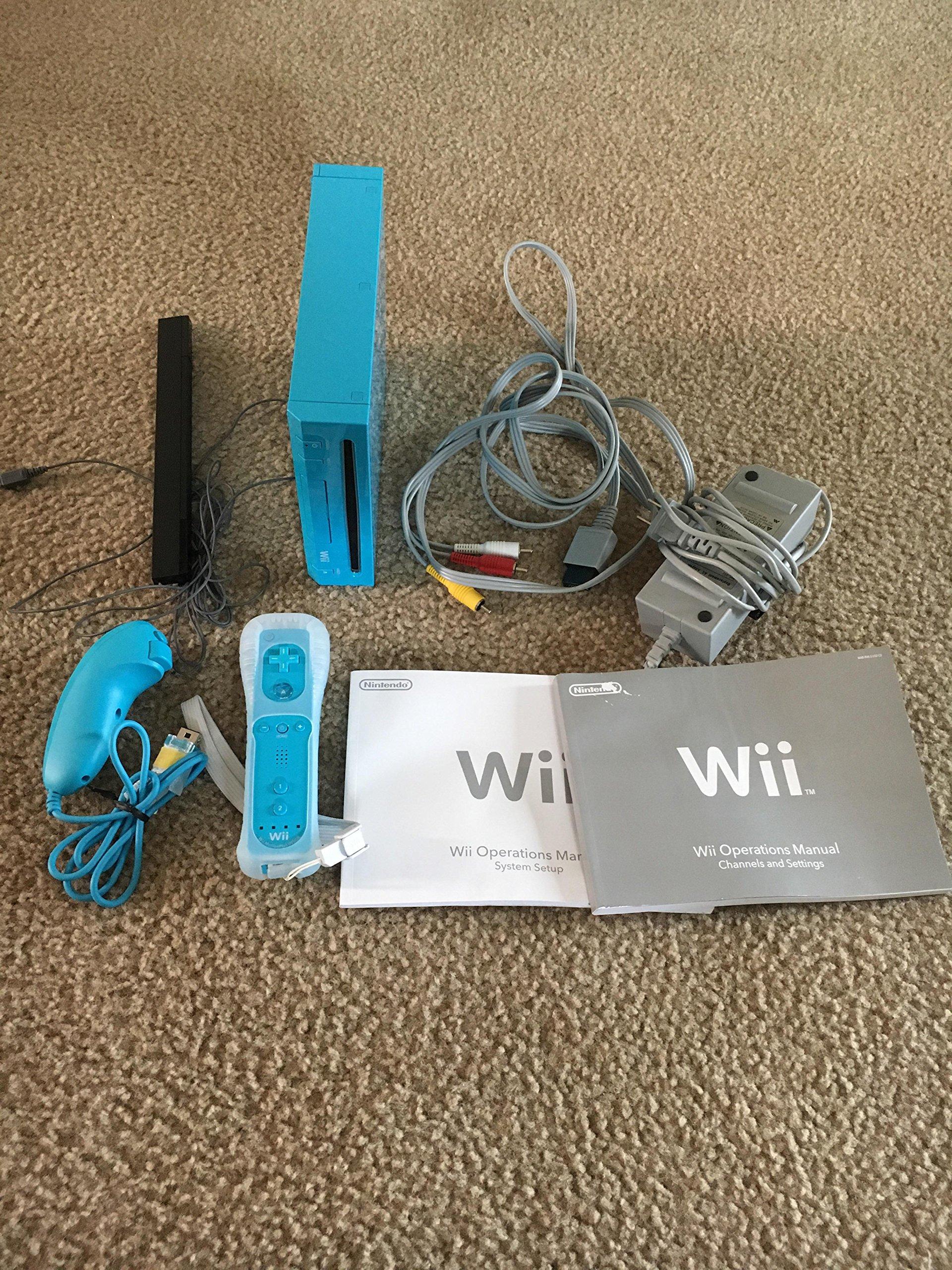 Nintendo Wii Blue Console by Nintendo