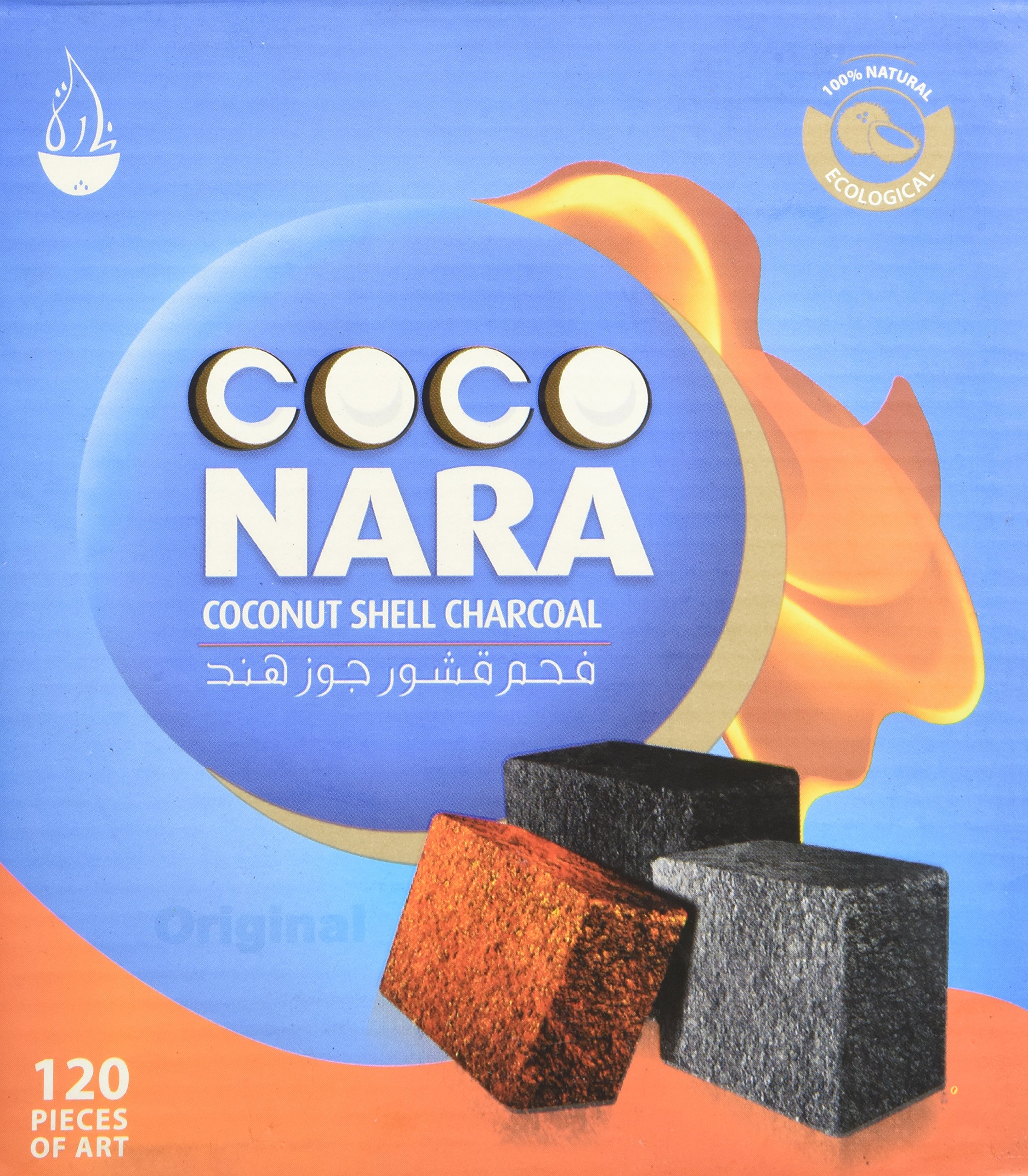 Box of 120pcs Coconut Coco nara coconara Premium Lighting Hookah Hokah charcoal coals- TOTAL 240pcs
