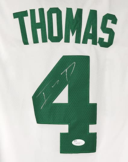 65d0a5f7478 Isaiah Thomas Boston Celtics Signed Autographed White  4 Jersey JSA ...