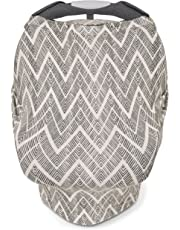 Skip Hop Grab and Go Arm Pad and Car Seat Canopy-Grey Zig Zag
