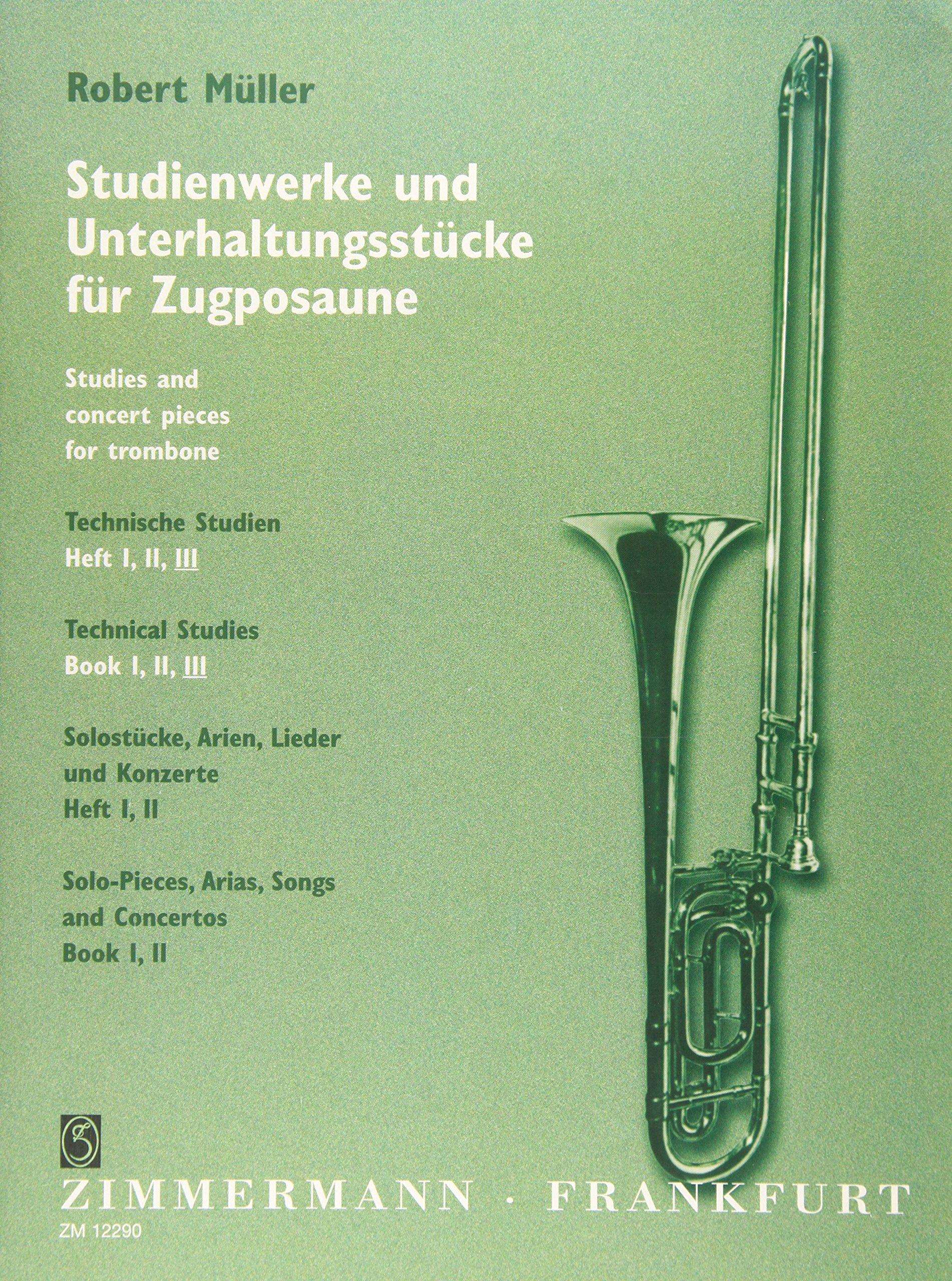 Technische Studien: Heft 3. Posaune. Musiknoten – 1. April 2000 Robert Müller B00008D0T8 LA9790010122908 Musikalien