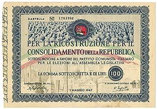 Cartamoneta.com 100 Lire SOTTOSCRIZIONE Partito Comunista 01/05/1947 qSPL