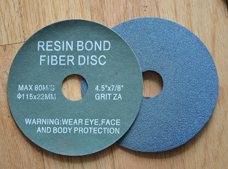 """100 Pack 4.5/"""" Black Hawk 120 Grit A//O Resin Fiber Disc Grinding /& Sanding Discs"""