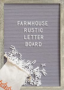 Giveaway: Farmhouse Wall Decor Felt Letter Board – 12 x 17 Inch Rustic…