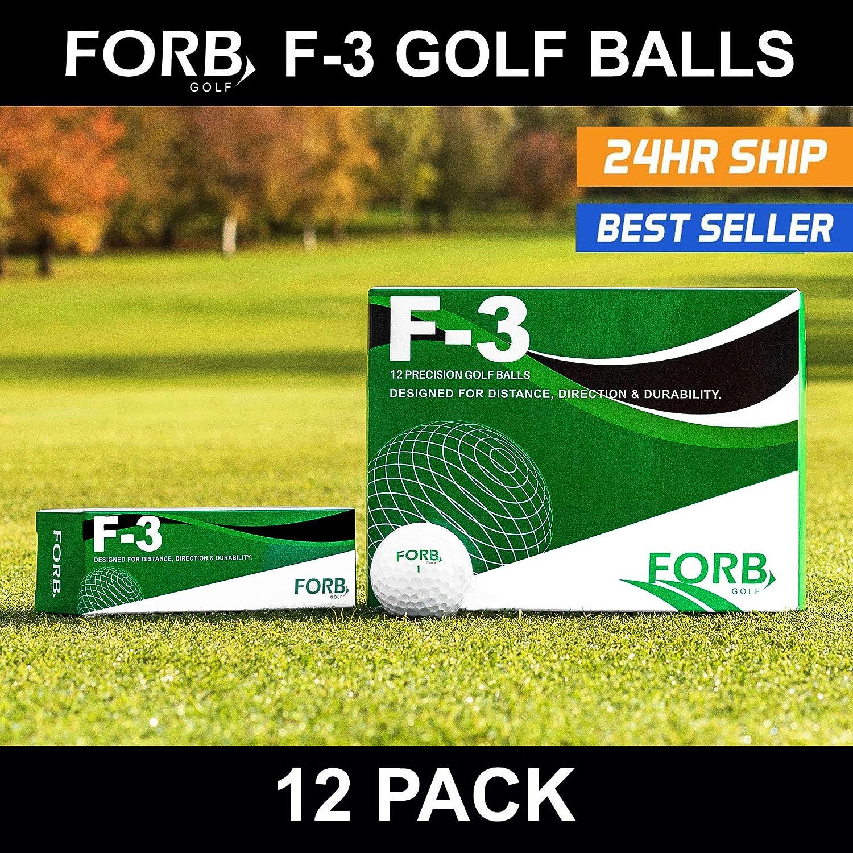 FORB f-3練習ゴルフボール( 12パック) (ホワイト) – The Perfect練習ゴルフボールGiving You距離と方向[ Net世界スポーツ]   B06Y5939CK