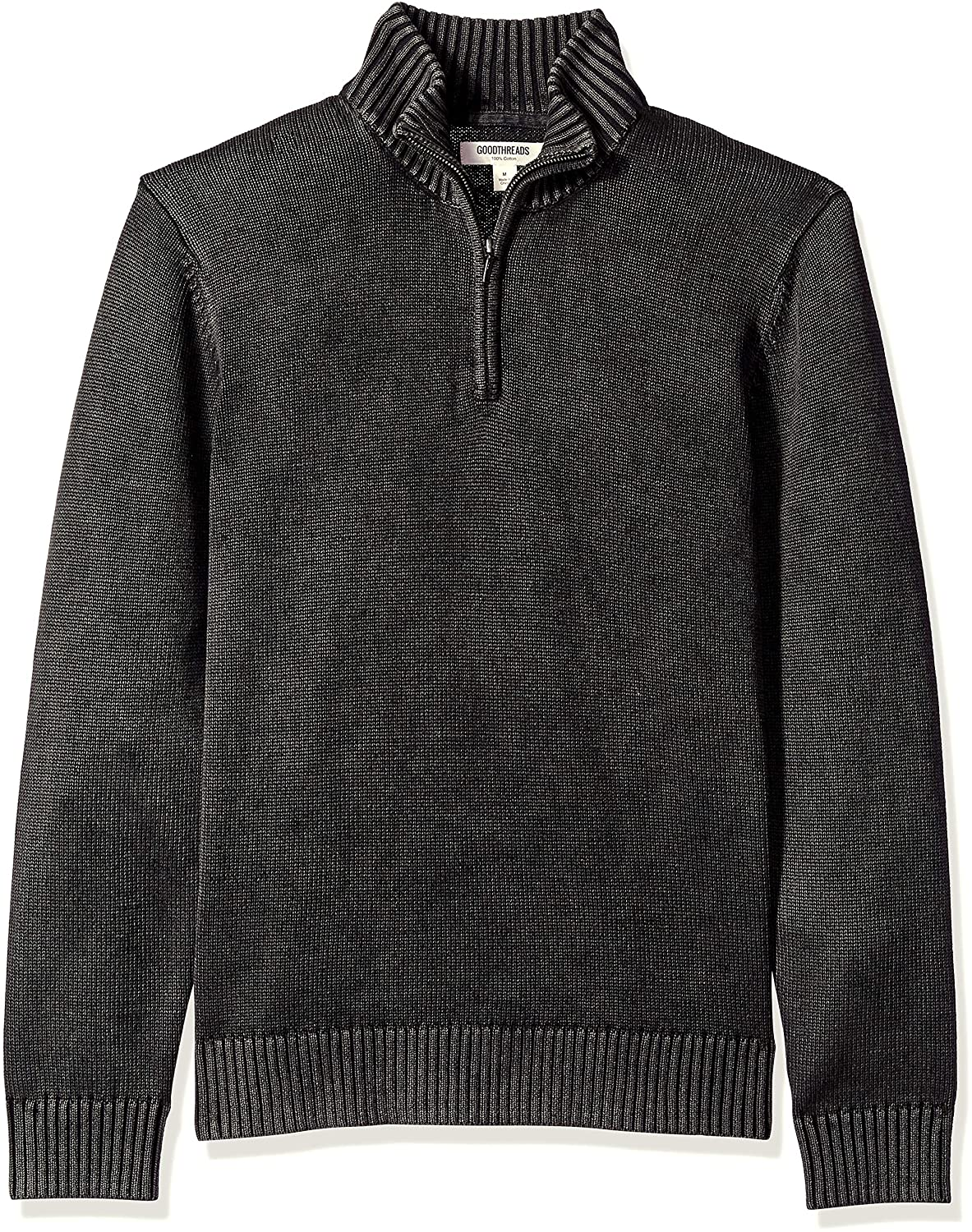 TALLA Medium. Goodthreads Soft Cotton Quarter Zip Sweater - Sudadera Hombre