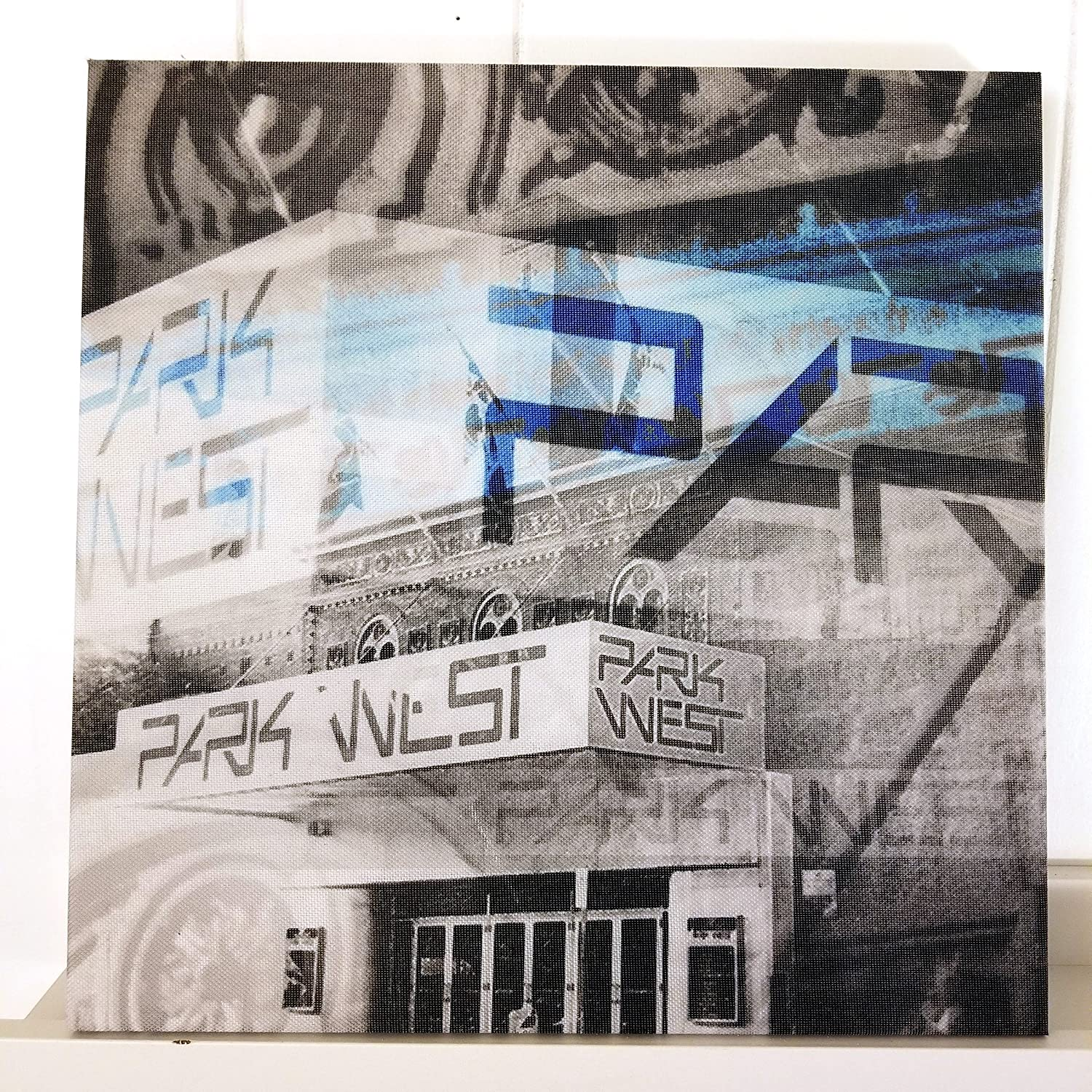 Andersonville Neighborhood Photo Collage Chicago 13 Canvas Wall Art